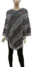 Women's Knitted Pullover Sleeveless Poncho Sweater Multicolor Fall Winter Cute