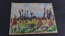 Peintre Piolenc aquarelle originale sur papier de René Thuillier