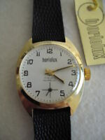 NOS NEW VINTAGE ST STEEL MECHANICAL HAND WINDING HORLOLUX  ANALOG WATCH 1960'S