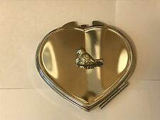 Bird TG200 Fine Pewter on Heart Shape Compact Mirror