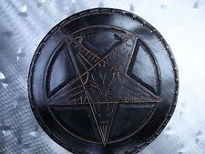 LEATHER TOOLING CARVED BAPHOMET BACKPATCH.(leatherBK06) black metal. ANTON LAVEY