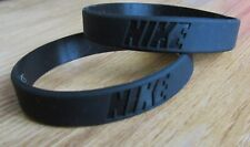 x2 Black Nike Baller Band Silicone Rubber Bracelet