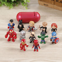 Mini Avengers 2 Age of 12pcs/set Hawk Black Widow Hulk Cool Thor  PVC Toys