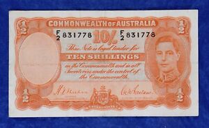 1939 (ND) Commonwealth of Australia 10 Shillings Currency Banknote
