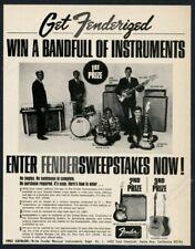 1967 Fender Jaguar Jazzmaster guitar Jazz Bass Rhodes piano pic vintage print ad