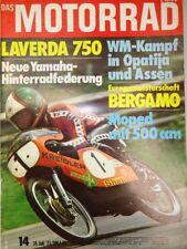 Motorrad 14 / 74 1974, Laverda 750 SF, Veteranen, WM in Assen