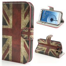 Protección funda estuche flip cover f Samsung Galaxy s3 i9300, bandera inglesa 99e