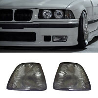 FOR 92-98 BMW E36 3-SERIES 4DR SEDAN HATCHBACK EURO SMOKE CORNER LIGHTS