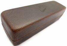 NIKE Glasses Case Compact Size Brown - Cloth Included - Authentic