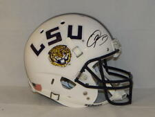 Odell Beckham Autographed LSU Tigers White Full Size Helmet- JSA Auth