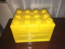 """Lego Brick Storage Carry Case in """" Yellow """" from 2011"""