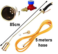 WEED GAS BURNER LONG ARM ROOFING ROOFERS TOOL HOSE 5M PROPANE KIT HEATINg