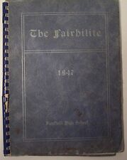 1947 Fairfield High School Yearbook - The Fairhilite - Va Virginia Rockbridge