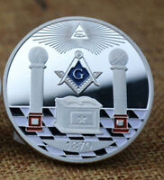 US EU Masonic Freemason Eye of God lucky Commemorative GOLD Coin Square Bar GIFT