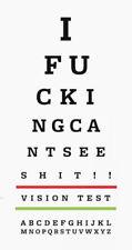 Framed Print - Funny Eye Chart (Picture Snellen Optician Glasses Vision Test)
