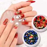 Weihnachten Nagel Strasssteine Perlen Nail Rhinestones 3D Nail Art Dekoration