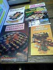 Lot de 4 livres et revues : Barbecue  Fondue  grillade