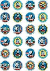 24 x Edible Cupcake Toppers - Rice / Wafer Paper - Perfect for Thomas Fans