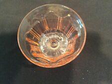 Vintage pink depression glass footed sherbet glass