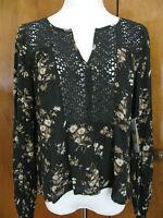 Ralph Lauren Denim & Supply women's fabric crafted black top S M L NWT