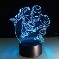 Hero Iron Man Illusion LED Lamp, 3D Light Experience - 7 Colors Options
