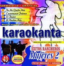 Karaokanta CD+G Mujeres-2 Exitos Rancheros,No me queda mas,El Pastor,Llorar+More