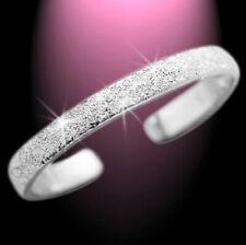 Zierlicher Zehenring Zehring diamantiert schmal 925 Sterlingsilber