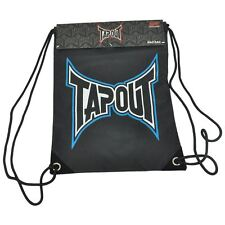 Tapout UFC Logo Basic Bacsac Backpack Drawstring Fighter Bag Backsack Black Blue