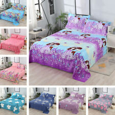 Twill Thickened Bed Sheet Comfort Bed Cover Bedspread Pillowcase Standard Adults