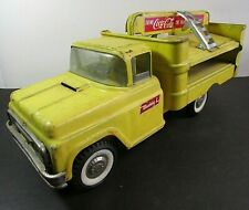 Vintage Buddy L Coca Cola Delivery Truck With 2 Hand Trucks
