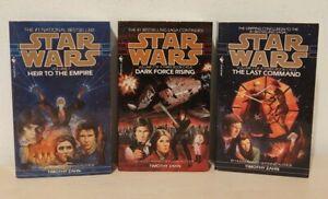 Star Wars Zahn Trilogy: 3 Vintage Paperback Lot: Heir, Dark Force, Last Command