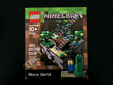 LEGO Minecraft Micro World The Forest 21102 Cuusoo Creeper Steve, New Sealed