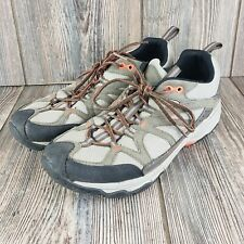 Merrell Hiking Trail Shoes Womens Size 10 Army Green Orange Lace Up