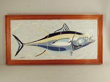 Ceramic Tile Art Framed Mosaic Wall Panel Bluefin Tuna Mathew Mann