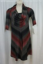 Signature by Robbie Bee Petite Dress Sz PL Red Black Cowl Neck Sweater Business