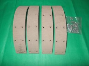 BRAKE SHOE LINING KIT +RIVETS MASSEY FERGUSON 35 35X 135 240 TRACTORS