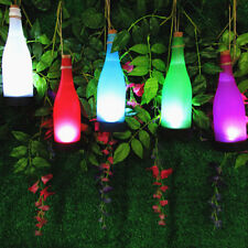 2018 Wine Bottle LED Solar Powered Sense Light Outdoor Hanging Garden Lamp Decor
