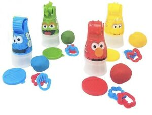 20 Piece Pack Sesame Street Kid Clay Dough With Rollers, Cutters, Press Tool