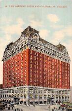 CHICAGO ILLINOIS  NEW SHERMAN HOUSE~COLLEGE INN POSTCARD 1910s