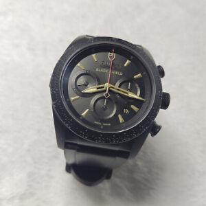 TUDOR Fast Rider Men's Black Watch with Rubber Strap - I331911 42000C