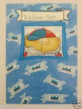 HALLMARK FOREVER FRIENDS CUTE BEAR TO A DEAR SON BIRTHDAY GREETING CARD