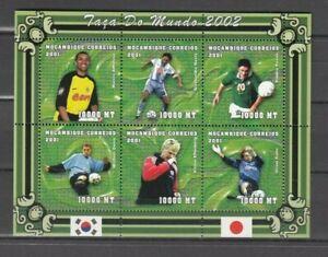MOSAMBIK, 2001 Fußball EM 1847-52 Kleinbogen **, (32166)