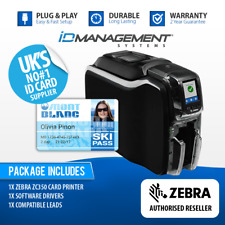 Zebra ZC350 Single-Sided ID Card Printer • Free UK Delivery
