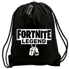 Fortnite Legend dogtag's drawstring bag,swimming bag, gym bag,water resistant