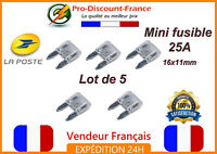 Lot de 5 mini fusibles 25A Voiture Auto Camion Scooter Quad 25 Ampères Fusible