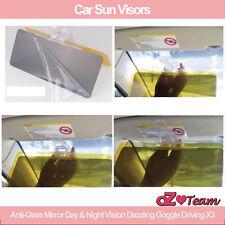 Car Sun Visors Anti-Glare Mirror Day & Night Vision Dazzling Goggle Driving X2