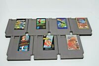 Lot of 7 Nintendo NES Games, Karate Kid, Base Wars, Stealth, Superspike V'Ball,