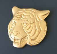 Vintage  tiger head brooch pin