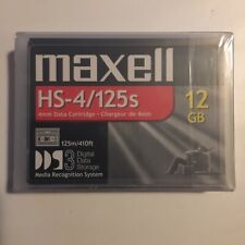 Lot Of 6 Maxell DDS-3 Data Tape Cartridges 12GB  125m HS-4/125S NEW