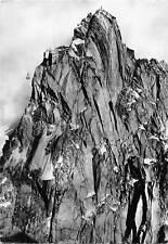 France Massif du Mont Blanc L'Aiguille du Midi Vue sur le Sommet Teleferique